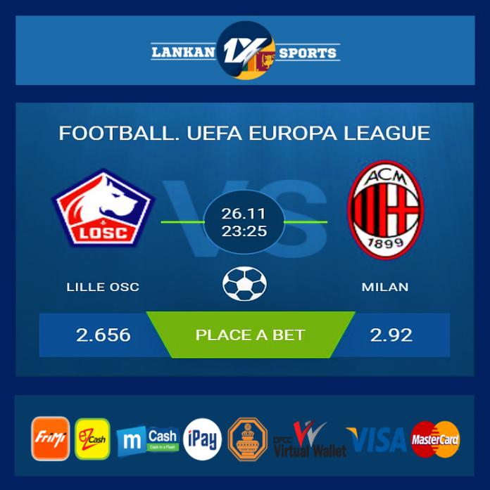 UEFA: ලිලේ OSC සහ මිලාන් අතර තරගය