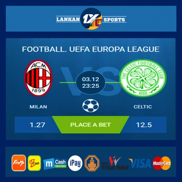 UEFA: මිලාන් සහ කෙල්ටික් අතර තරගය