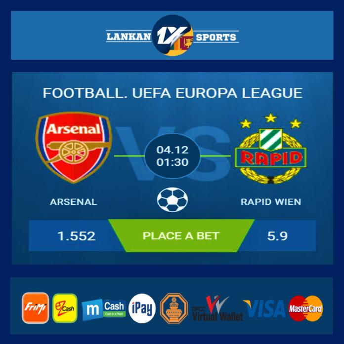UEFA: ආර්සෙනල් සහ රැපිඩ් වීන් අතර තරගය