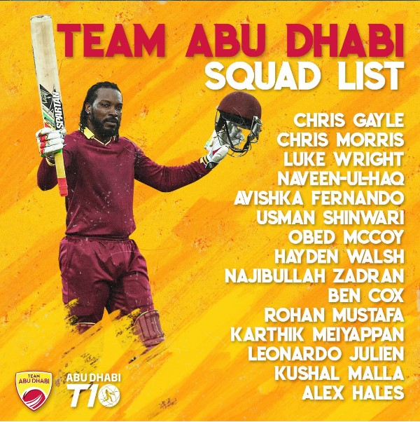 Abu Dhabi T10 ලීගය සදහා ශ්රී ලංකා ක්රිකට් ක්රීඩකයින් 12 දෙනෙකු