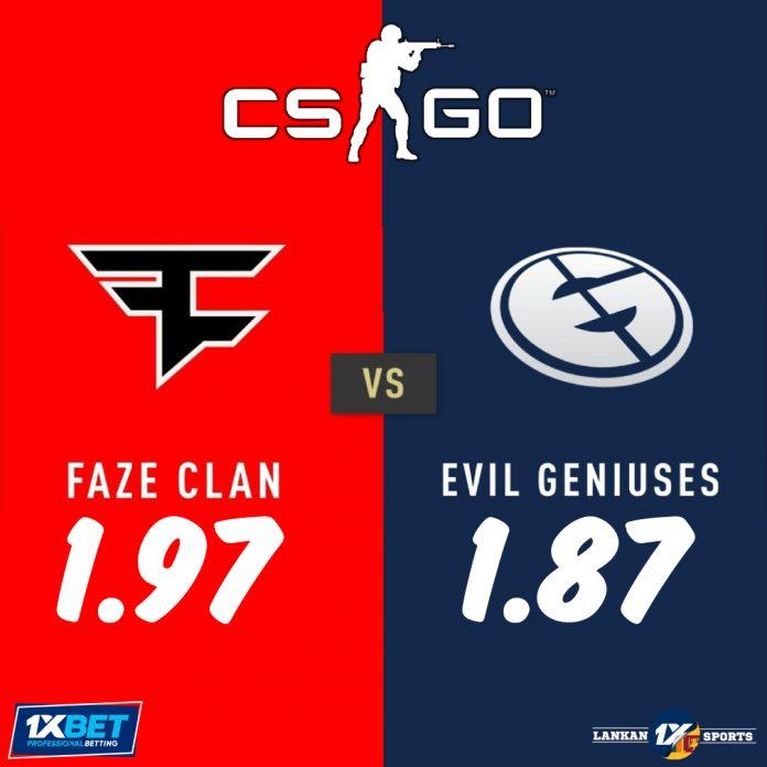 Evil Geniuses සහ FaZe Clan අතර තරගය